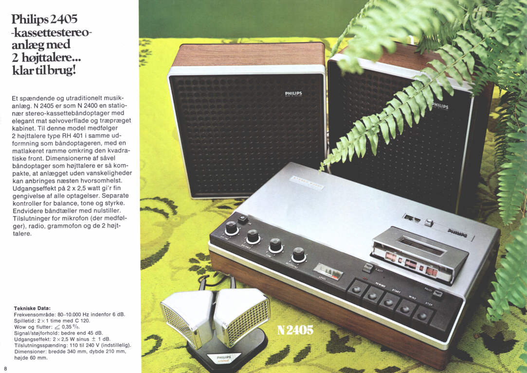 philips stereo cassette catalogue 1973 danish. Black Bedroom Furniture Sets. Home Design Ideas
